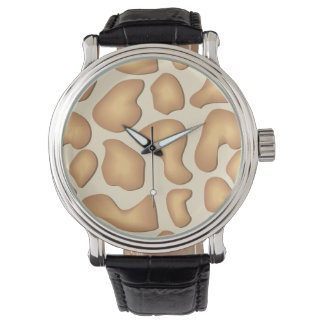 キリンの皮の顔の腕時計 腕時計