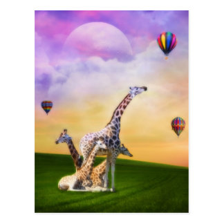 キリンの監視気球 ポストカード