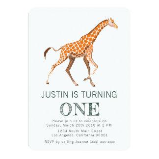 キリンの誕生日の招待状 カード