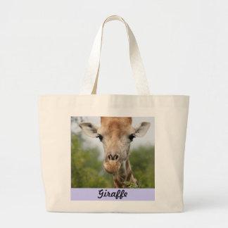 キリンの顔 ラージトートバッグ