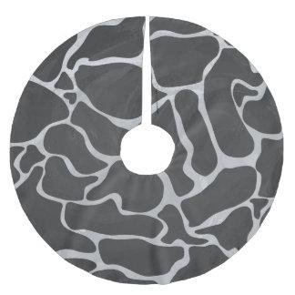 キリンの黒く、薄い灰色のプリント ブラッシュドポリエステルツリースカート