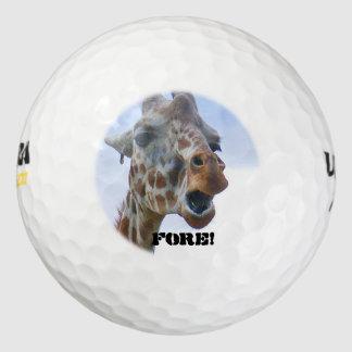 """キリンの""""前部の""""ゴルフ・ボール(3) ゴルフボール"""
