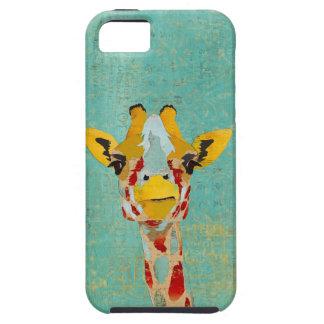キリンのiPhoneの場合をかいま見る金ゴールド iPhone SE/5/5s ケース
