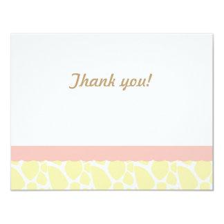 キリンはノートピンク叫び声感謝していしています カード