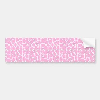 キリンパターン。 淡いピンク。 バンパーステッカー