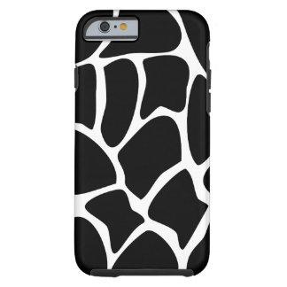 キリンパターン。 黒い動物のデザイン iPhone 6 タフケース
