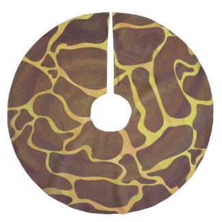 キリンブラウンおよび黄色いプリント ブラッシュドポリエステルツリースカート