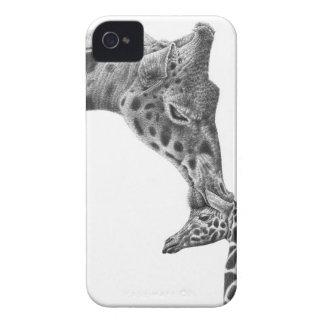 キリン及び子牛の例 Case-Mate iPhone 4 ケース