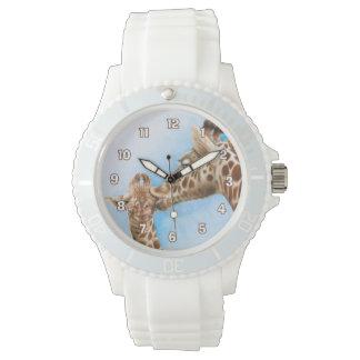 キリン及び子牛の腕時計 腕時計