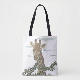 キリン、アフリカ動物、野生の生命 トートバッグ