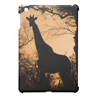 キリン(Giraffaのcamelopardalis)のシルエット iPad Miniケース