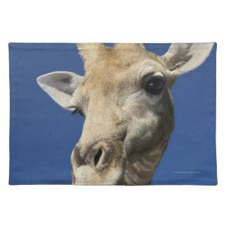 キリン(Giraffa Camelopardalis)のポートレート ランチョンマット