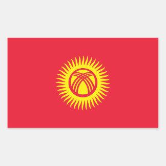 キルギスタンかKyrgyzかKirghiz共和国の旗 長方形シール