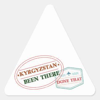 キルギスタンそこにそれされる 三角形シール