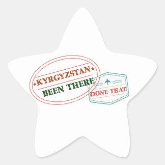 キルギスタンそこにそれされる 星シール