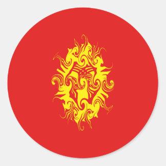 キルギスタンのすごい旗 ラウンドシール