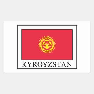 キルギスタンのステッカー 長方形シール