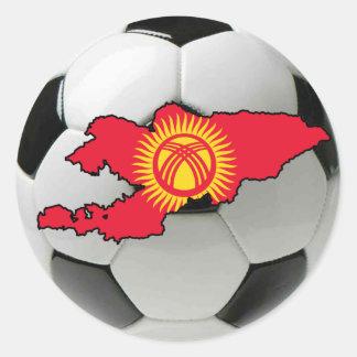 キルギスタンのフットボールのサッカー ラウンドシール