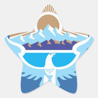 キルギスタンの国章 星シール