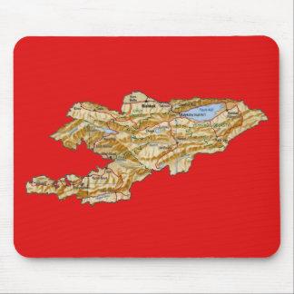 キルギスタンの地図のマウスパッド マウスパッド