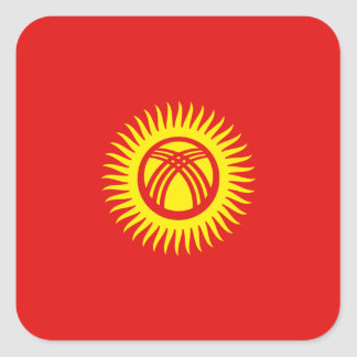 キルギスタンの旗のステッカー スクエアシール