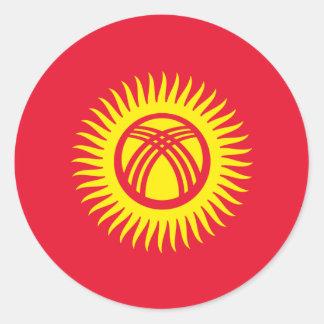 キルギスタンの旗のステッカー ラウンドシール