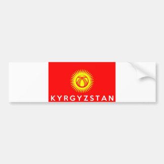 キルギスタンの旗の国の文字の名前 バンパーステッカー