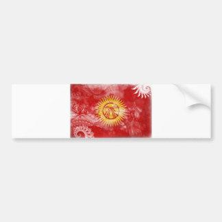 キルギスタンの旗 バンパーステッカー
