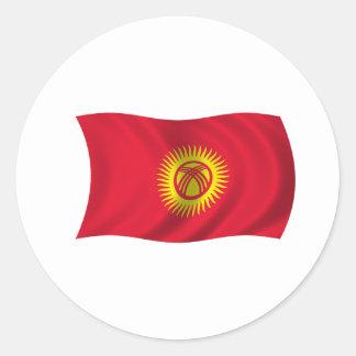 キルギスタンの旗 ラウンドシール