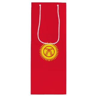 キルギスタンの旗 ワインギフトバッグ