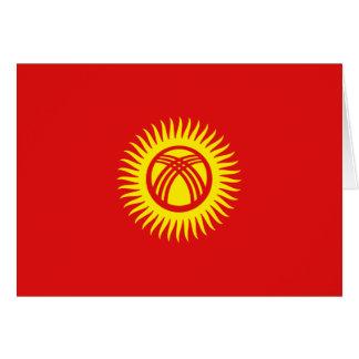 キルギスタンの旗Notecard カード