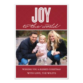 「キルトにされた喜び」の(クランベリー)休日の写真カード カード