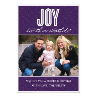 「キルトにされた喜び」の(プラム)休日の写真カード カード