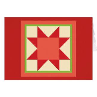 キルトのクリスマスカード-鋸歯の星 カード