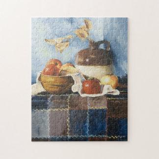 キルトのパズルの0541個のりんご及び瀬戸物の静物画 ジグソーパズル