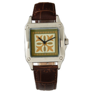 キルトのブロック 腕時計