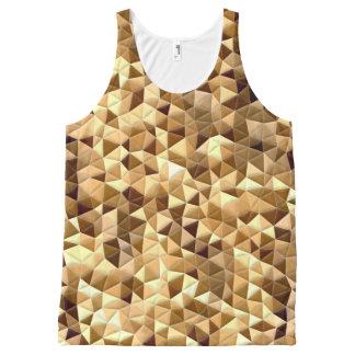 キルトの錯覚の幾何学的な三角形のタンクトップ オールオーバープリントタンクトップ