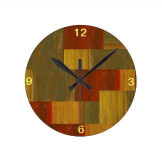 キルト ラウンド壁時計