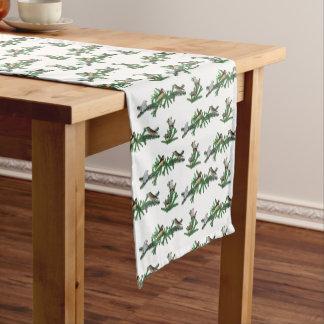 キンカチョウのパーティーのテーブルのランナー(色を選んで下さい) ショートテーブルランナー