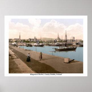 キングスタウン- DunLaoghaire港、Co.ダブリン ポスター
