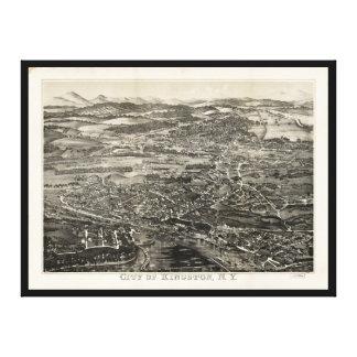 キングストン、ニューヨーク(1875年)の空中写真 キャンバスプリント
