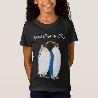 """キングペンギン""""接吻します"""" Tシャツ"""