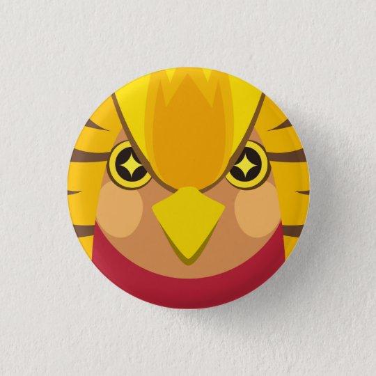 キンケイ-Golden pheasant 3.2cm 丸型バッジ