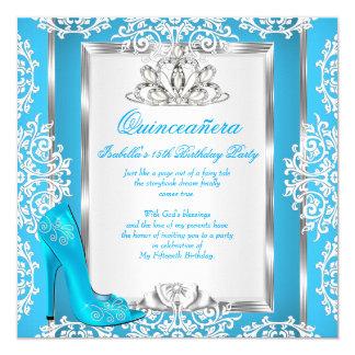 キンセアニェラの第15誕生日のシンデレラの青の靴 カード