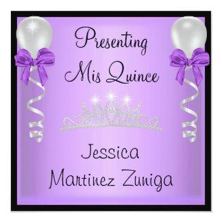 キンセアニェラの紫色の黒い銀製の宝石のティアラ カード