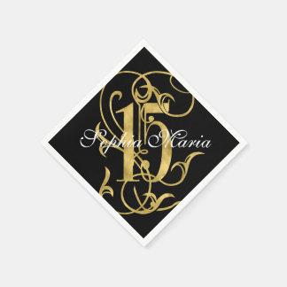 キンセアニェラの金ぱくの一見華美な15色 スタンダードカクテルナプキン