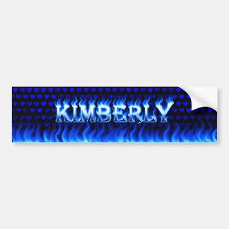 キンバリーの青い火および炎のバンパーステッカーのdesig バンパーステッカー