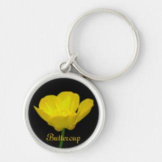 キンボウゲのキーホルダーの黄色い野生の花のギフト キーホルダー
