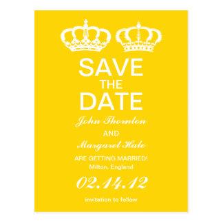 キンボウゲの黄色く王室のなカップルは日付を救います ポストカード