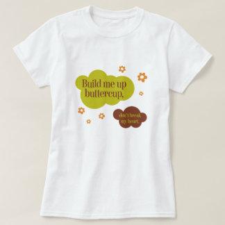 キンボウゲ80sの引用文のレトロのグラフィックの上の私を造って下さい tシャツ